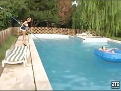 lezb at swimming pool