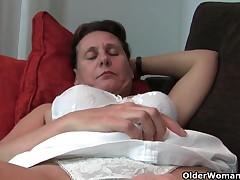 Hirsute granny with hard teats