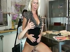 Mature MILF blonde gets her way with younger boyfriend