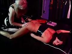 Goddess Nina Harltey playing with sex thrall