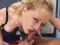 Hardcore cock sucking and fucking with a mature babe