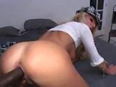 Hot babe Sue Diamond fucks a big black dick