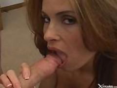 Ginger Sucks Cock POV