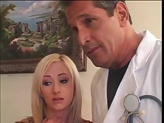 Sexy sweetheart team-fucked by the doctor