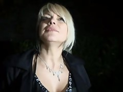French whore in the middle of a hardcore gangbang