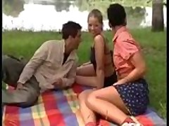 Hot German orgy in park