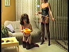 Classic BDSM porn movie with a mature brunette