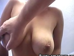Gabriella striptease and blowjob