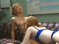 Lesbian cuties play and lick their hairy cunts
