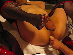 Wicked nurse Mistresse stretches my gazoo