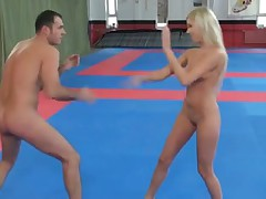 Donna Bell Vs James Mixed Wrestling and Post Match Penalty