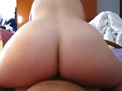 Large a-hole exgirlfriend riding pecker till creampie