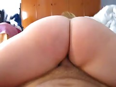 Large a-hole exgirlfriend riding pecker till creampie