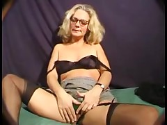 Nasty German mature blonde webcam  sex perfromance