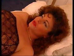 Horny MILF got finger-fucked while wearing stockings