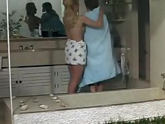 Horny retro lesbian lady with a hot young teen babe