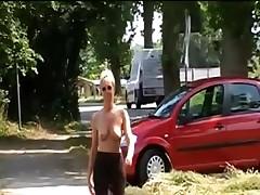 Outdoor undressed Public