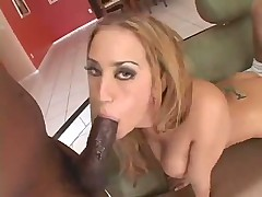 White girl gangbanged hard by 5 big black cock