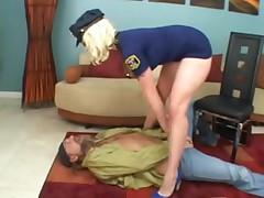 Golden-Haired Officer Receives Serviced By The Prisoner!