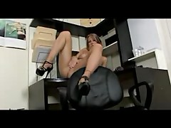 Golden haired mature whore in a masturbation sex video