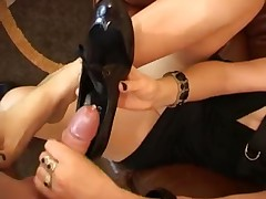 Foot Fetish Cum Compil Footjobs Shoes High Heels