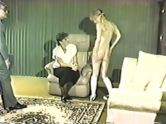 Slutty babes enjoy some caning and spanking