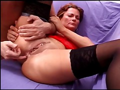 Hawt chick receives throat abd love tunnel penis drilled