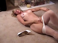 mother I'd like to fuck in white and tan pantyhose