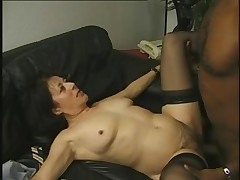 Unshaven mature whores in heavy action