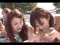 5 Japanese Gals Engulf Fuck and Cum (Uncensored)