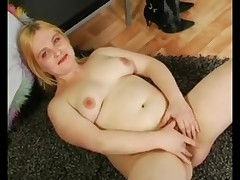 Overweight Corpulent Blond Ex Girlfriend showing her Bushy Love Tunnel