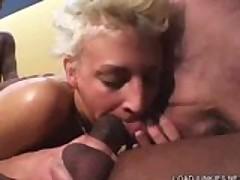 Blonde Mature Gangbanged