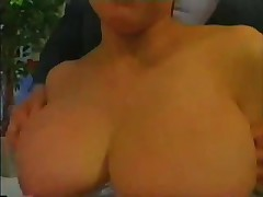 Japanese Reporter with Large Meatballs acquires Titty slapped