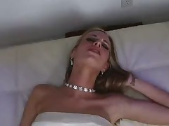 Sweet blonde MILF fucked hard in her lovely cunt