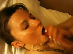 Bitches getting cum in mouth in this compilation video