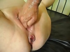 Mature slave girl getting fisted by her husband