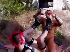 French Emo Legal Age Teenager -Punk- with redhead fuck in trio