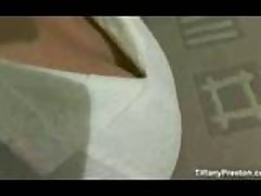 Tiffany Preston In White Dress