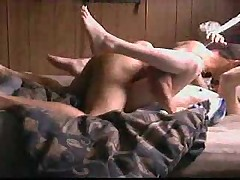 White slut fucked to orgasm by a BBC