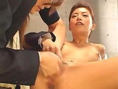 Japanese business ladies share toy