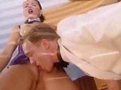 Latex Sluts Gets Messy Facial