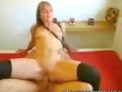 Horny tight wet snatch blondie riding cock