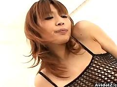 Japanese babe Ai Kurosawa loves hard cock