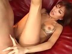 Two Dudes Banging An Asian Slut