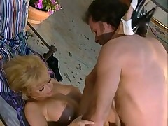 Hardcore action with bigtits lady