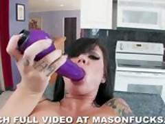 Smoking Hot Mason Moore Strips Off Red Bikini