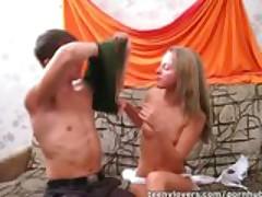 Teen sliding jilted on cock