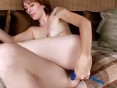 Milf With Beads Masturbating Her Clit