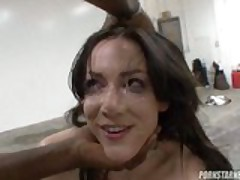 Audrey Elson Works Some Big Black Dick Before Double Face Splattering