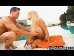 Big tits babe Shyla Styles pool fuck and cumshot